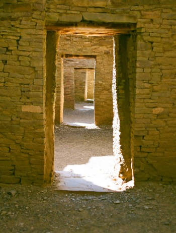 Photo by Steven Herrmann -- Doorways at Pueblo Bonito