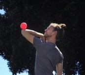 Contact juggler Richard Hartnell, Photo by Mike Kepka, The SF Chronicle